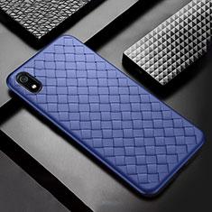 Custodia Silicone Morbida In Pelle Cover per Xiaomi Redmi 7A Blu