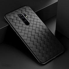 Custodia Silicone Morbida In Pelle Cover per Xiaomi Redmi 9 Nero