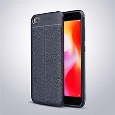 Custodia Silicone Morbida In Pelle Cover per Xiaomi Redmi Go Blu