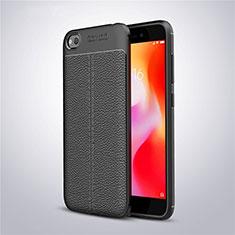 Custodia Silicone Morbida In Pelle Cover per Xiaomi Redmi Go Nero