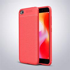 Custodia Silicone Morbida In Pelle Cover per Xiaomi Redmi Go Rosso