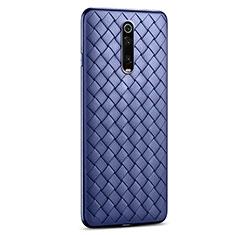 Custodia Silicone Morbida In Pelle Cover per Xiaomi Redmi K20 Pro Blu