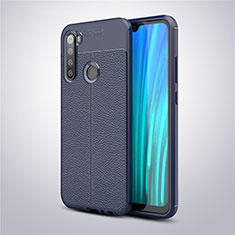 Custodia Silicone Morbida In Pelle Cover per Xiaomi Redmi Note 8T Blu