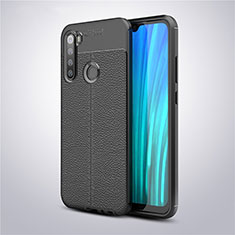 Custodia Silicone Morbida In Pelle Cover per Xiaomi Redmi Note 8T Nero