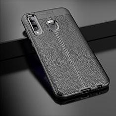 Custodia Silicone Morbida In Pelle Cover S01 per Huawei Enjoy 9s Nero
