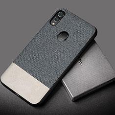 Custodia Silicone Morbida In Pelle Cover S01 per Huawei Honor 10 Lite Grigio