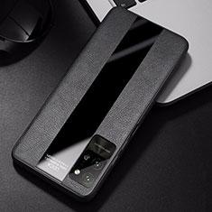 Custodia Silicone Morbida In Pelle Cover S01 per Huawei Honor Play4 Pro 5G Nero