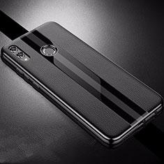Custodia Silicone Morbida In Pelle Cover S01 per Huawei Honor View 10 Lite Nero