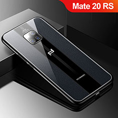 Custodia Silicone Morbida In Pelle Cover S01 per Huawei Mate 20 RS Nero