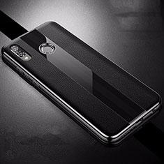 Custodia Silicone Morbida In Pelle Cover S01 per Huawei Nova 3i Nero