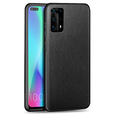 Custodia Silicone Morbida In Pelle Cover S01 per Huawei P40 Pro+ Plus Nero