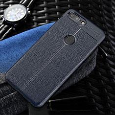 Custodia Silicone Morbida In Pelle Cover S01 per OnePlus 5T A5010 Blu