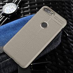 Custodia Silicone Morbida In Pelle Cover S01 per OnePlus 5T A5010 Grigio