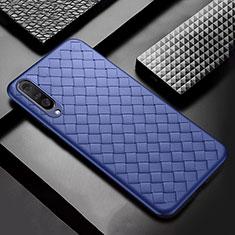 Custodia Silicone Morbida In Pelle Cover S01 per Samsung Galaxy A50 Blu