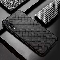 Custodia Silicone Morbida In Pelle Cover S01 per Samsung Galaxy A50 Nero