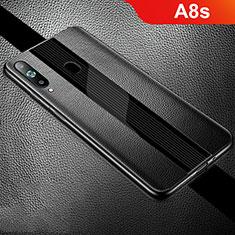 Custodia Silicone Morbida In Pelle Cover S01 per Samsung Galaxy A8s SM-G8870 Nero