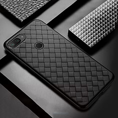Custodia Silicone Morbida In Pelle Cover S01 per Xiaomi Mi 8 Lite Nero