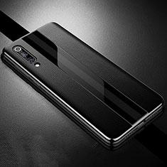 Custodia Silicone Morbida In Pelle Cover S01 per Xiaomi Mi 9 Nero