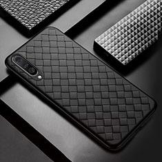 Custodia Silicone Morbida In Pelle Cover S01 per Xiaomi Mi A3 Nero