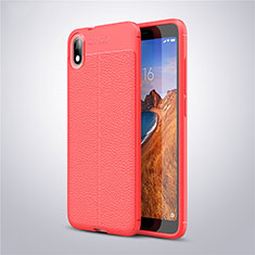 Custodia Silicone Morbida In Pelle Cover S01 per Xiaomi Redmi 7A Rosso