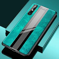Custodia Silicone Morbida In Pelle Cover S02 per Huawei Enjoy 10e Verde