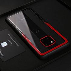 Custodia Silicone Morbida In Pelle Cover S02 per Huawei Mate 20 RS Rosso
