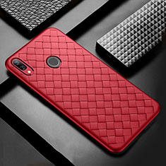 Custodia Silicone Morbida In Pelle Cover S02 per Huawei P Smart+ Plus Rosso