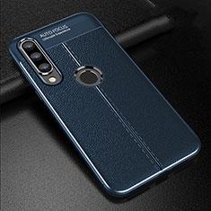 Custodia Silicone Morbida In Pelle Cover S02 per Huawei P30 Lite Blu
