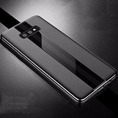 Custodia Silicone Morbida In Pelle Cover S02 per Samsung Galaxy S10e Nero