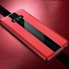 Custodia Silicone Morbida In Pelle Cover S02 per Samsung Galaxy S10e Rosso