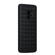 Custodia Silicone Morbida In Pelle Cover S02 per Samsung Galaxy S9 Nero
