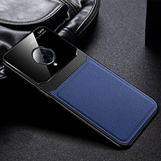 Custodia Silicone Morbida In Pelle Cover S02 per Vivo Nex 3 Blu