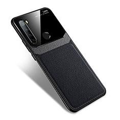 Custodia Silicone Morbida In Pelle Cover S02 per Xiaomi Redmi Note 8 Nero