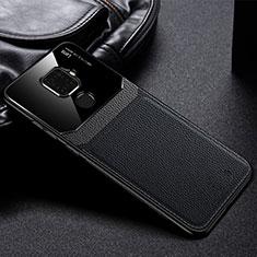 Custodia Silicone Morbida In Pelle Cover S03 per Huawei Mate 30 Lite Nero