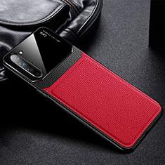 Custodia Silicone Morbida In Pelle Cover S03 per Oppo Find X2 Lite Rosso