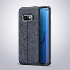 Custodia Silicone Morbida In Pelle Cover S03 per Samsung Galaxy S10e Blu