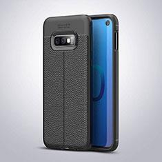Custodia Silicone Morbida In Pelle Cover S03 per Samsung Galaxy S10e Nero