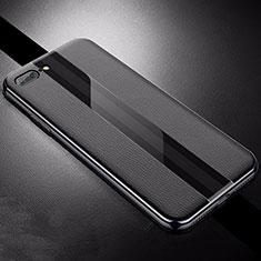 Custodia Silicone Morbida In Pelle Cover S04 per Apple iPhone 8 Plus Nero