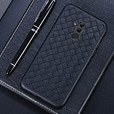 Custodia Silicone Morbida In Pelle Cover S04 per Huawei Mate 20 Lite Nero