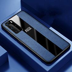 Custodia Silicone Morbida In Pelle Cover S04 per Huawei P40 Pro Blu