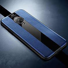 Custodia Silicone Morbida In Pelle Cover S04 per Vivo Nex 3 Blu
