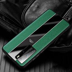 Custodia Silicone Morbida In Pelle Cover S05 per Huawei P40 Pro Verde