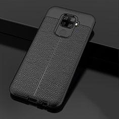 Custodia Silicone Morbida In Pelle Cover Z01 per Huawei Mate 30 Lite Nero