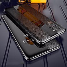 Custodia Silicone Morbida In Pelle Cover Z01 per Huawei P30 Pro Nero