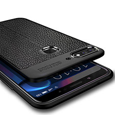 Custodia Silicone Morbida In Pelle per Huawei Enjoy 8 Nero