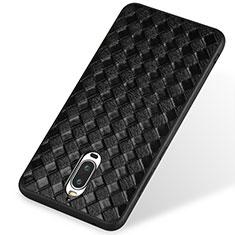 Custodia Silicone Morbida In Pelle per Huawei Mate 9 Pro Nero