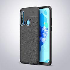 Custodia Silicone Morbida In Pelle per Huawei P20 Lite (2019) Nero