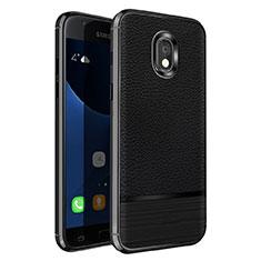 Custodia Silicone Morbida In Pelle per Samsung Galaxy J5 Pro (2017) J530Y Nero