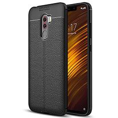 Custodia Silicone Morbida In Pelle Q01 per Xiaomi Pocophone F1 Nero