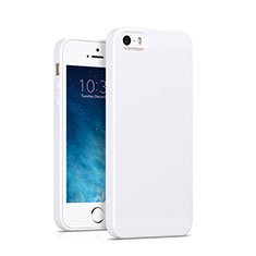 Custodia Silicone Morbida Lucido per Apple iPhone SE Bianco
